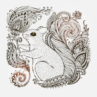 Resumo de altamente ornamentais ornamentais de mão desenhada.