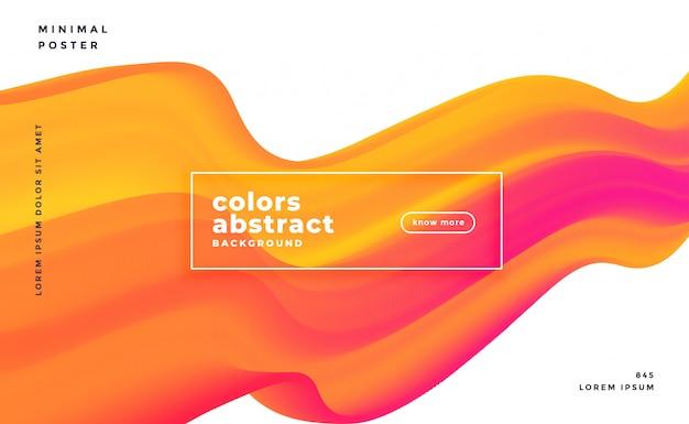 Resumo de banner colorido onda 3d fluindo
