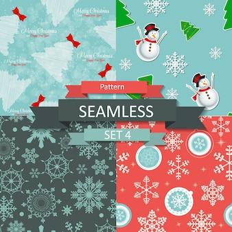 Resumo de beleza de natal e ano novo sem costura de fundo. ilustração vetorial. eps10
