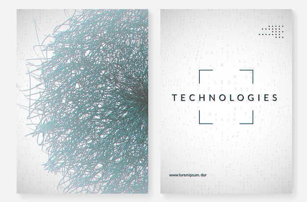 Resumo de big data. fundo de tecnologia digital. inteligência artificial e conceito de aprendizado profundo. visual de tecnologia para modelo sem fio. pano de fundo abstrato futurista de big data.