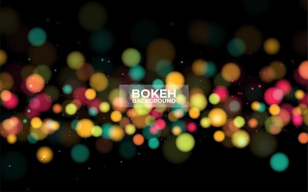 Resumo de bokeh filtrado noite cidade desfocado.