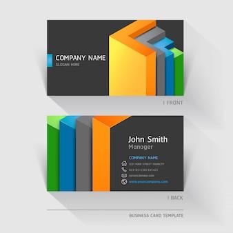 Resumo de cartão de visita com formas geométricas