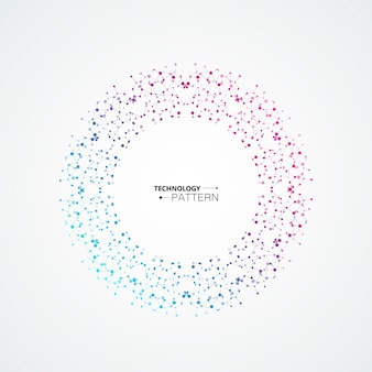 Resumo de círculo conectar-se com pontos e linhas de conexão