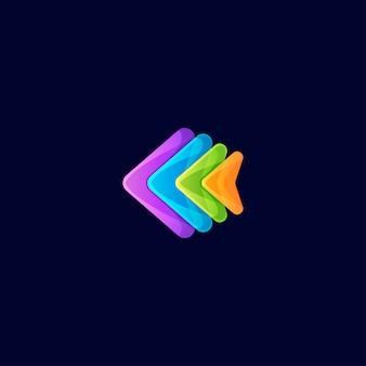 Resumo de design de logotipo completo de cor de peixe