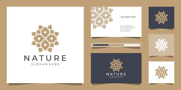 Resumo de design de logotipo de flor elegante.