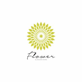 Resumo de design de logotipo de flor