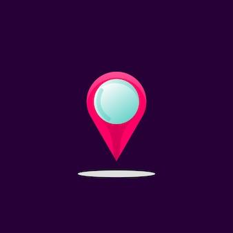 Resumo de design de logotipo de localização