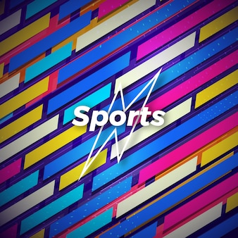 Resumo de esportes fundo colorido