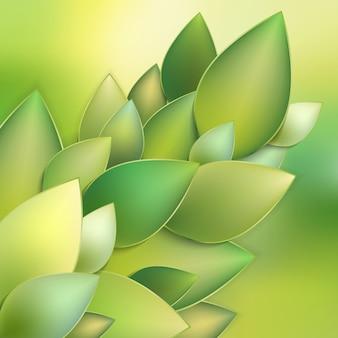 Resumo de folhas verdes.