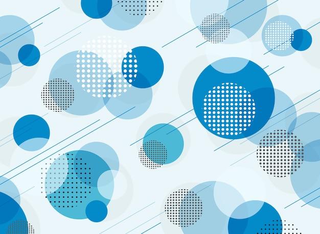Resumo de fundo azul padrão geométrico simples.
