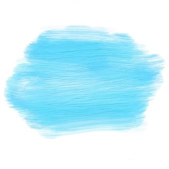 Resumo de fundo com mancha azul pintado acrílico