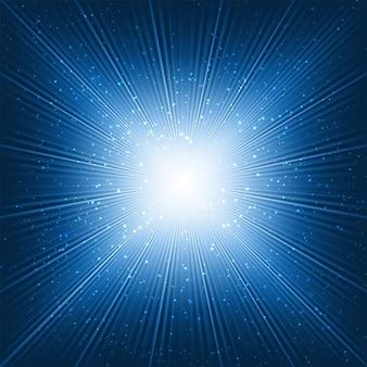 Resumo de fundo com um design starburst