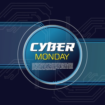 Resumo de fundo cyber segunda-feira