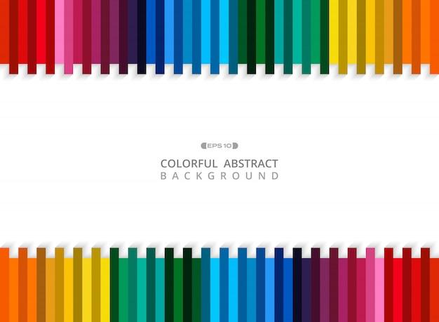 Resumo de fundo da linha listra colorida com espaço de cópia