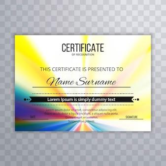 Resumo de fundo de certificado colorido