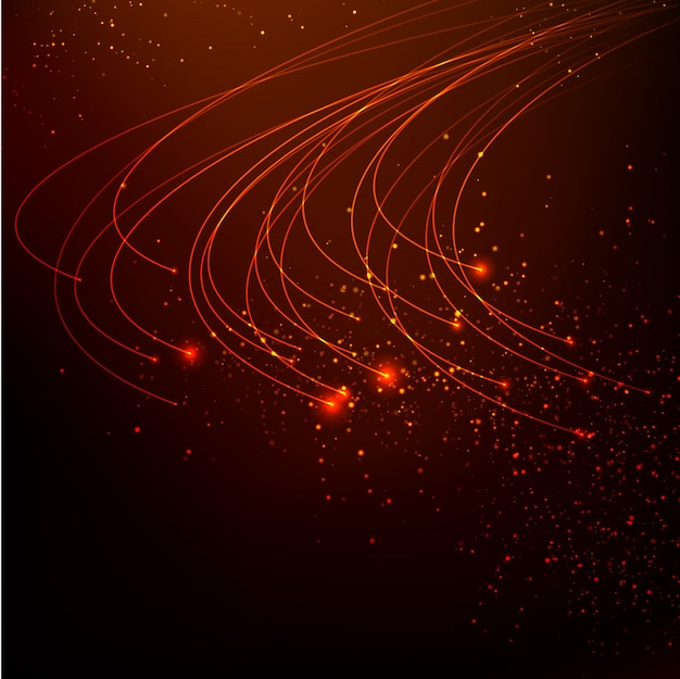 Resumo de fundo de luzes vermelhas