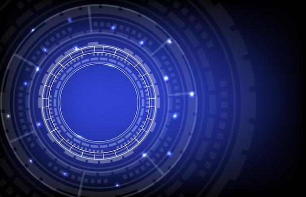 Resumo de fundo de tecnologia digital de círculo hud