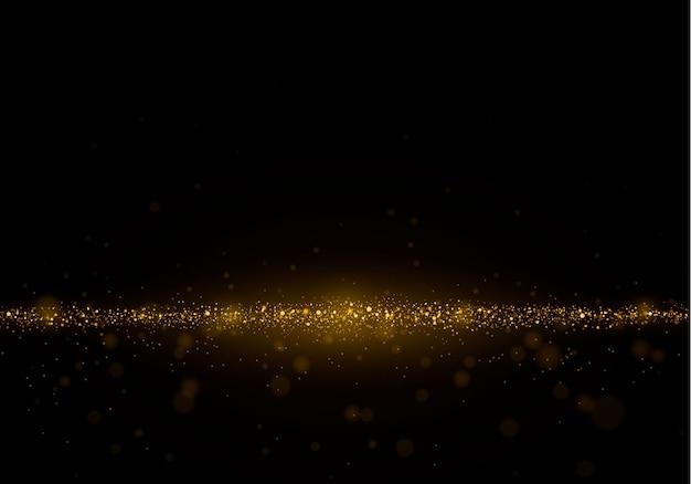 Resumo de fundo desfocado com brilho da luz, bokeh e partículas brilhantes.