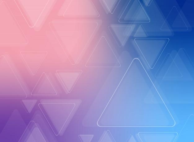 Resumo de fundo do teste padrão triângulo futurista colorido.