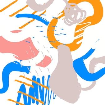 Resumo de fundo pintado à mão. ilustração vetorial.