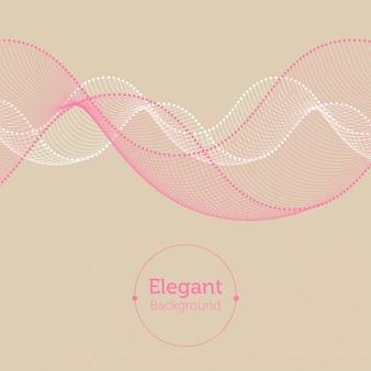 Resumo de fundo rosa bege branco pontilhado curvas