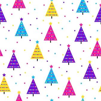 Resumo de fundo sem emenda da floresta de abetos. amostra moderna para cartão de ano novo, convite para festa de natal, papel de parede de aniversário, papel de embrulho de feriado, impressão em tecido, camiseta, publicidade de oficina