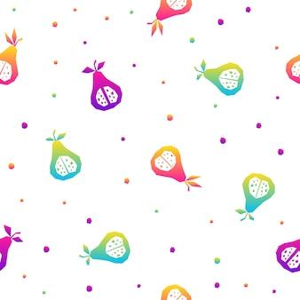 Resumo de fundo sem emenda do arco-íris. amostra moderna para cartão de aniversário, convite para festa de crianças, papel de parede de venda de loja, papel de embrulho de férias, tecido, impressão de bolsa, camiseta, publicidade de oficina