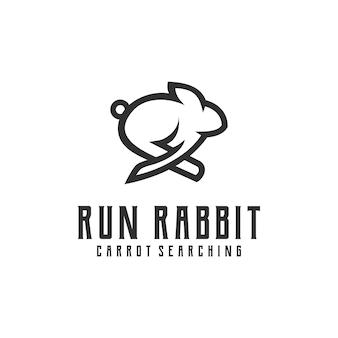 Resumo de inspiração de logotipo simples de coelho