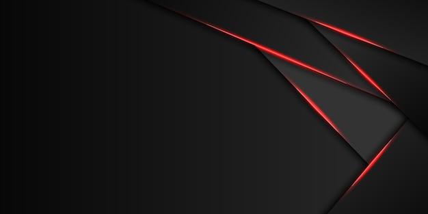 Resumo de layout de quadro preto vermelho metálico moderna tecnologia