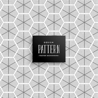 Resumo de linhas hexagonais de fundo