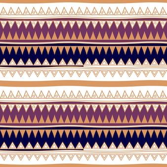 Resumo de listras sem costura padrão tribal