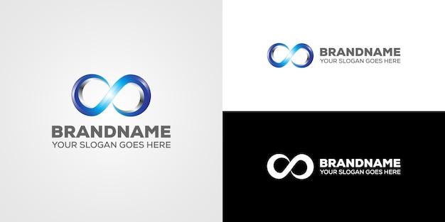 Resumo de logotipo 3d infinito