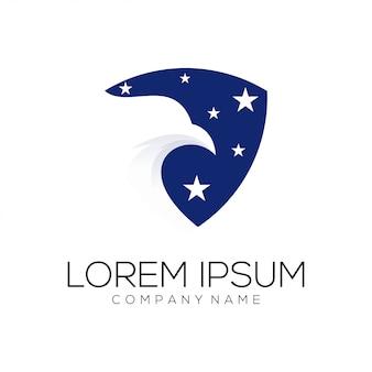 Resumo de logotipo de águia