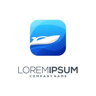 Resumo de logotipo de barco