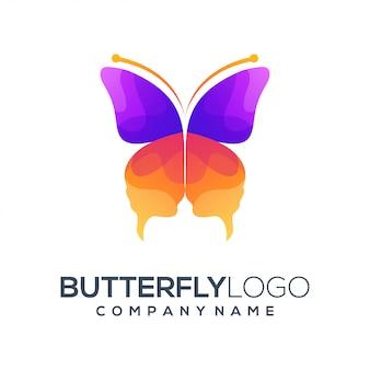 Resumo de logotipo de borboleta