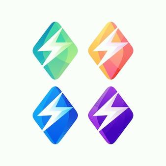 Resumo de logotipo de energia