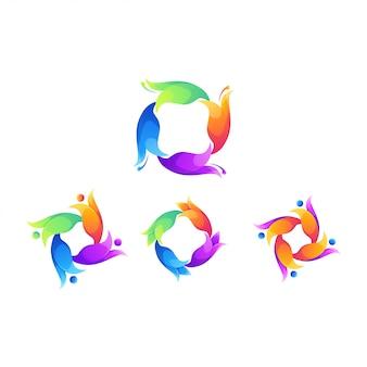 Resumo de logotipo de flor