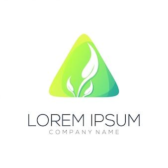 Resumo de logotipo de folha