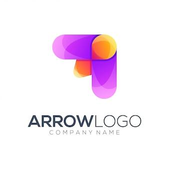 Resumo de logotipo de seta