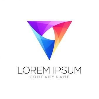 Resumo de logotipo do triângulo