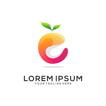 Resumo de logotipo laranja