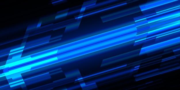 Resumo de luz azul escuro. mova o desfoque de movimento.
