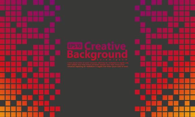 Resumo de meio-tom vertical com gradação roxa escura, amarela e fundo de cor preta