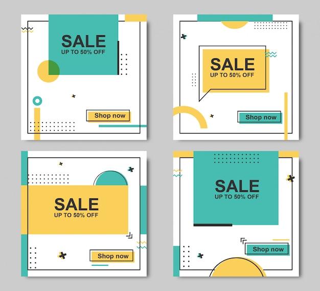 Resumo de modelo de banner de venda editável