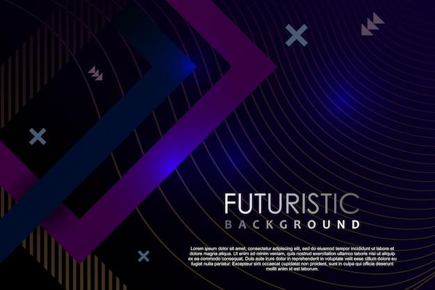 Resumo de modelo de fundo futurista com efeito de néon de gradiente
