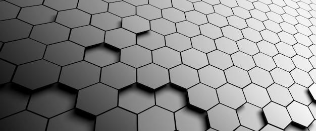 Resumo de plano de fundo padrão hexágono
