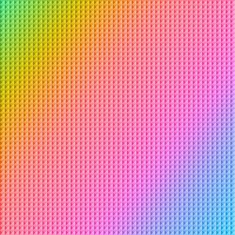 Resumo de quadrados usando as cores do arco-íris