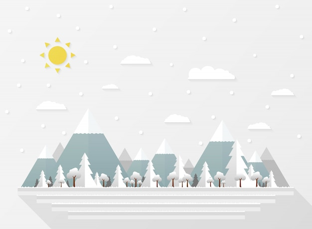 Resumo de quedas de neve branca de natal