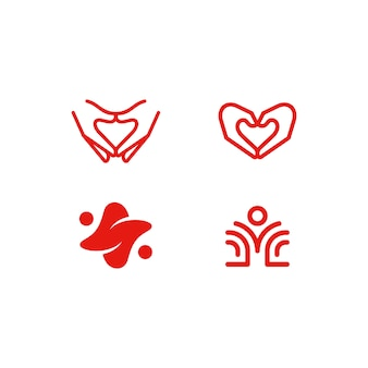 Resumo de saúde marca ilustração vetorial modelo de design