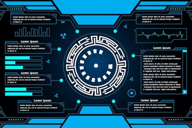 Resumo de tecnologia de interface futurista